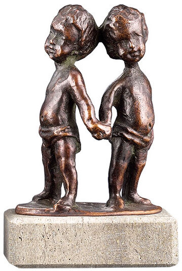 "Elisabeth Ehrhardt: Zodiac sculpture ""Gemini"", metal casting"