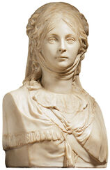 "Bust ""Queen Louise"", art casting"