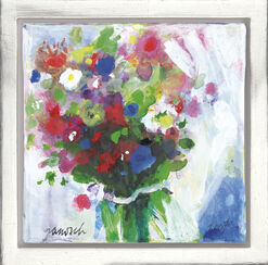 """Bild """"Blumenstrauß mit weißer Schleife"""" (2003) (Unikat)"""