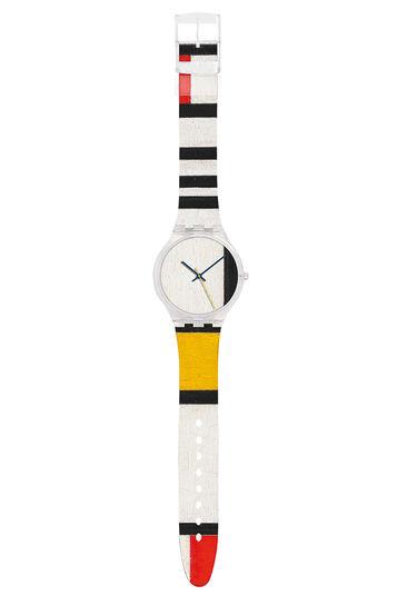 """Piet Mondrian: Armbanduhr """"Komposition in Rot, Blau und Gelb"""""""