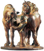 "Sculpture ""Two Horses"" (1908/09), art bronze edition"