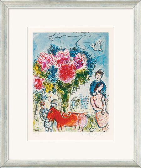 "Marc Chagall: Bild ""Personnages fantastiques"" (1974), gerahmt"