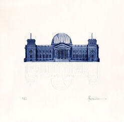 """Bild """"Reichstag"""", ungerahmt"""