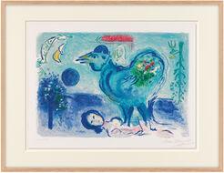 """Bild """"Der Hahn in der Landschaft"""" (1958)"""