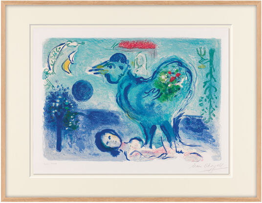 marc chagall bild der hahn in der landschaft 1958 artes. Black Bedroom Furniture Sets. Home Design Ideas