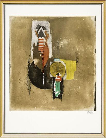 "Johnny Friedlaender: Bild ""Prodige"" (1983), gerahmt"