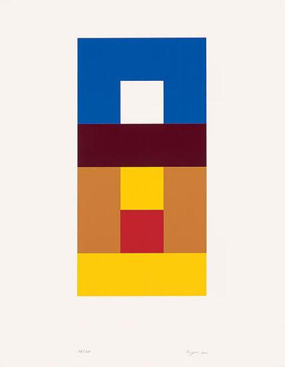 """Helmut Keppler: Bild """"Quadrat im Quadrat"""" (2005), ungerahmt"""