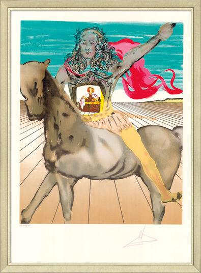 """Salvador Dalí: Bild """"Chevalier surréaliste (Hommage à Velàsquez)"""", gerahmt"""