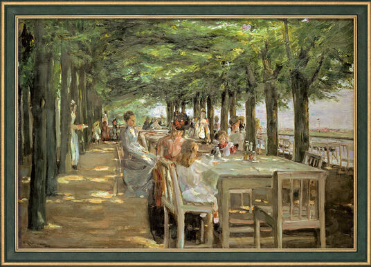 "Max Liebermann: Painting ""The Terrace at the Restaurant Jacob in Nienstedten on the Elbe"" (1902-03) in the Frame"