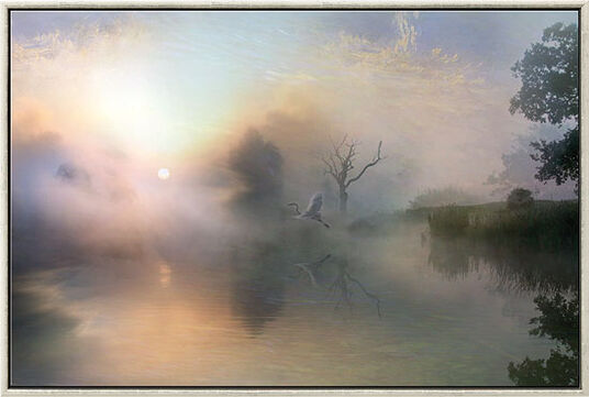 "Ule W. Ritgen: Painting ""Silent Rise"" (2009)"