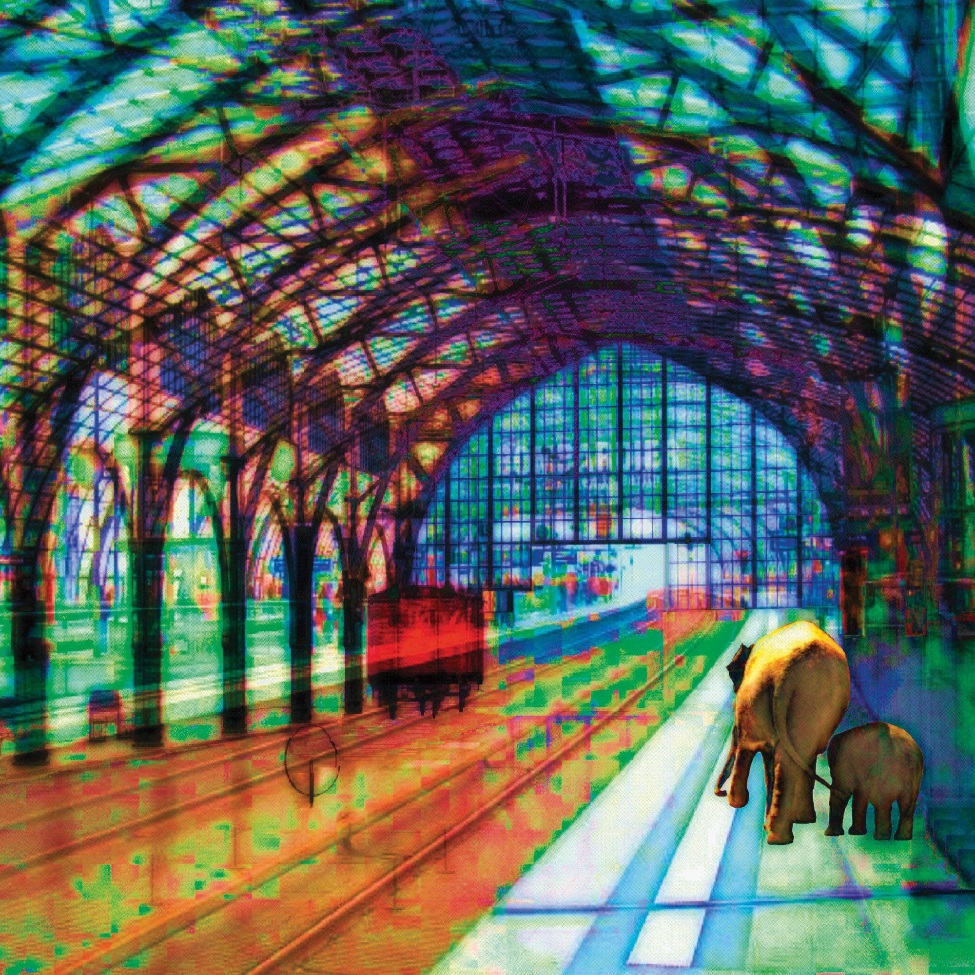 Mojo Mendiola Bild Bahnsteig mit Elefanten  ars mundi