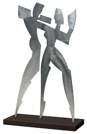 """Alfred Gockel: Skulptur """"Shadow Dance I"""" (2006), Aluminium"""