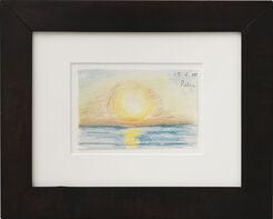 "Bild ""Sonnenuntergang über dem Meer"" (1935) (Unikat)"
