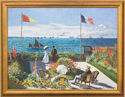 "Painting ""Garden in Sainte-Adresse"" (1867), Framed"