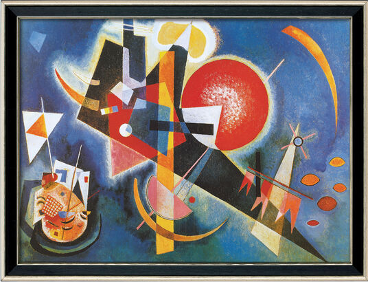 "Wassily Kandinsky: Bild ""Im Blau"" (1925), gerahmt"