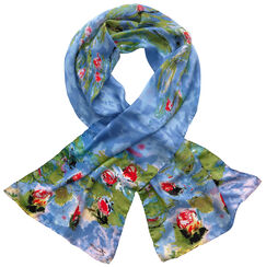 "Silk scarf ""Water Lilies"""