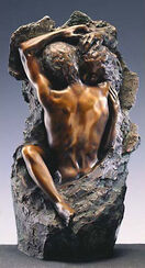 "Sculpture ""Loving couple"" (1982), art bronze version"