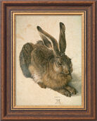 "Painting ""Wild Rabbit"" (1502) with frame"