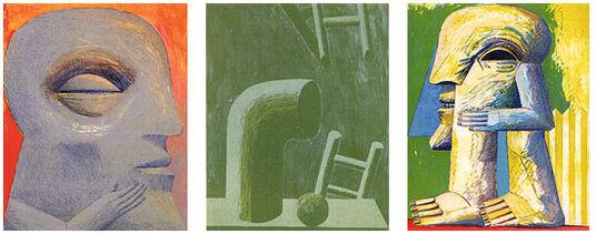 """Horst Antes: Buch """"Werkverzeichnis der Lithografien"""" - mit 3 Bildern"""
