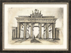 """Bild """"Brandenburger Tor"""", gerahmt"""
