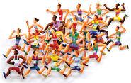 """3D-Wandskulptur """"Long Distance Runners"""" (2004), Aluminium"""