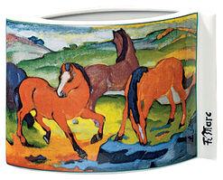 """Porzellanvase """"Weidende Pferde"""" (1911)"""