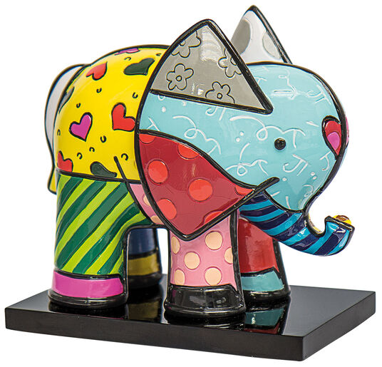 "Romero Britto: Skulptur ""Elefant Tonio"", Kunstguss"