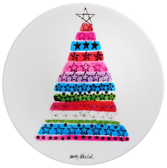 "Andy Warhol: Porzellanteller ""Christmas - Tree"""