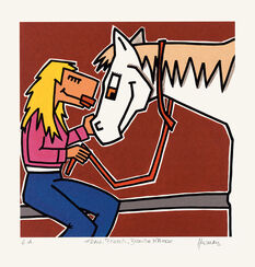 "Picture  ""Woman, Horse, Blonde Mane"" (2010)"