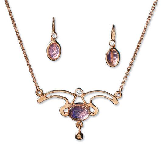 "Georg & Hans J. Müller: Jewellery Set ""Bouton de Rose"""