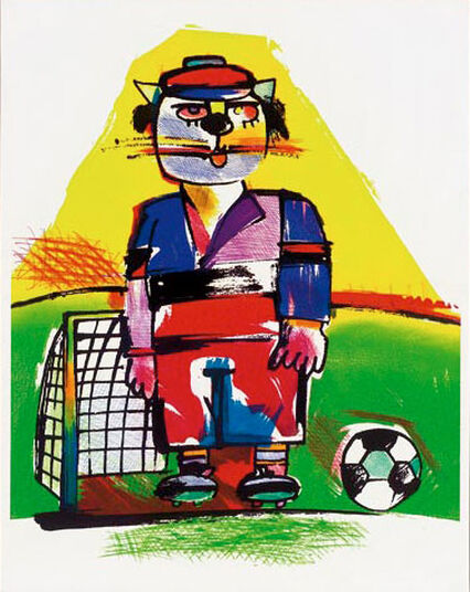 "Otmar Alt: Picture  ""The Footballer"""