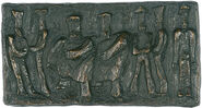 "Bronze relief ""Cooks"""