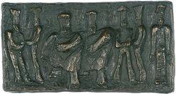 "Bronze-Relief ""Köche"""