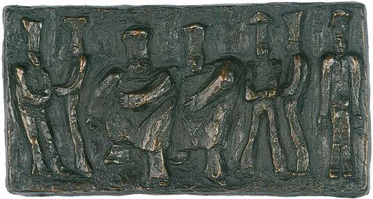 """Günter Grass: Bronze-Relief """"Köche"""""""