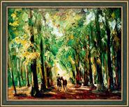 """Bild """"Reiter im Tiergarten"""" (1920), gerahmt"""