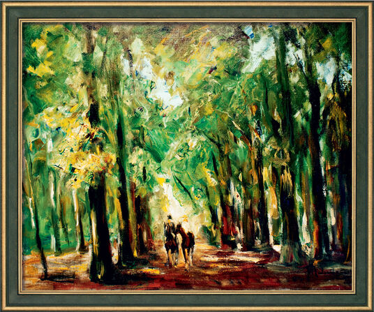 "Max Liebermann: Picture ""Rider in Zoo"" (1920) in a frame"