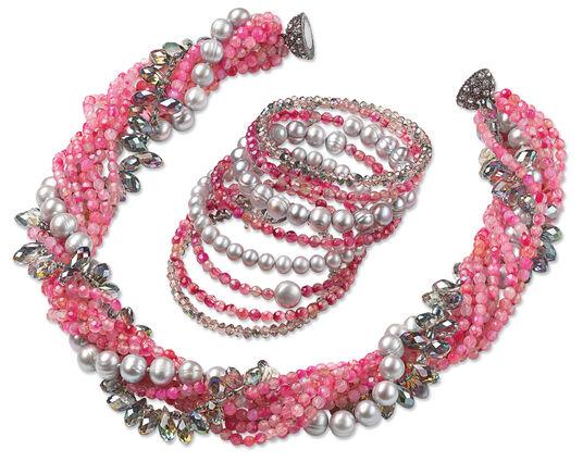 "Jewelry Set ""Pink Lady"""