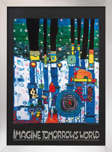 """Friedensreich Hundertwasser: Bild """"(944) Imagine tomorrows world"""", gerahmt"""