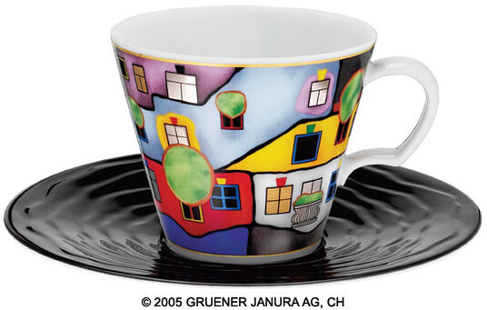 "Friedensreich Hundertwasser: Universal Mug after 839 ""The Third Skin"""