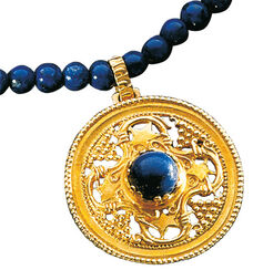 "Necklace ""Konstantin Opel "", gilded with lapis lazuli, 925 Sterling silver"
