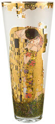 """Glass Vase """"The Kiss"""" with Gold Decor"""