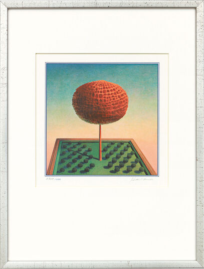 "Rudolf Hausner: Bild ""Adams Lebensbaum"", gerahmt"
