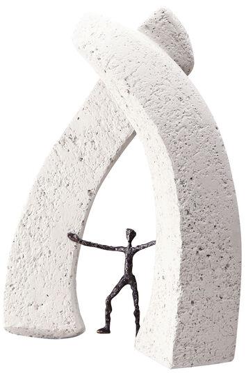 """Luise Kött-Gärtner: Skulptur """"Neue Dimensionen eröffnen"""", Bronze und Steinguss"""