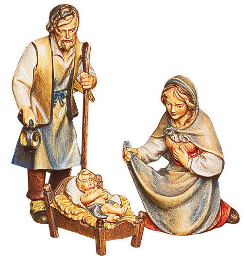 krippenfiguren heilige familie maria josef und das christuskind holz handbemalt ars mundi. Black Bedroom Furniture Sets. Home Design Ideas