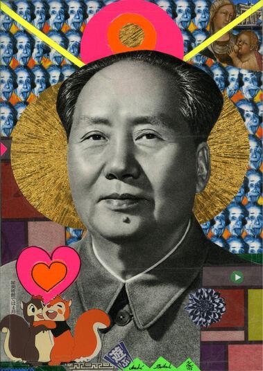 "André Boitard: Bild ""Mao Tse Tung"" (2015) (Unikat)"
