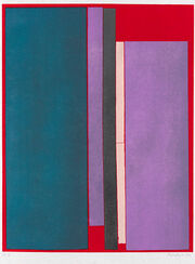 """Painting """"Composizione a Colore"""" (1970), Unframed"""