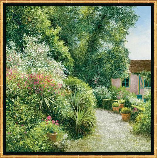 """Jean-Claude Cubaynes: Bild """"Le Jardin Baudy à Giverny"""", gerahmt"""