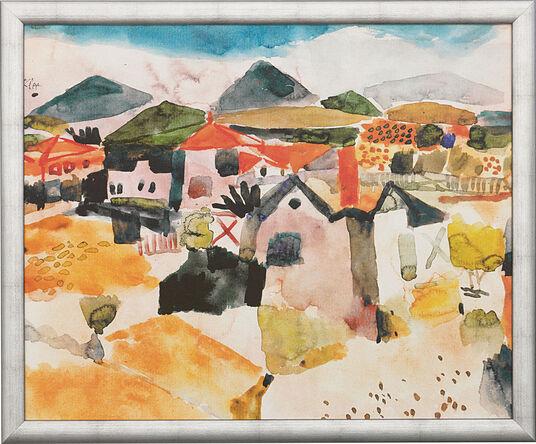 """Paul Klee: Painting """"View on St. Germain"""" (1914), Framed"""