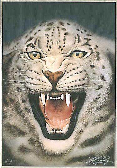 "Carl-W. Rohrig: Painting ""The Snow Leopard"""
