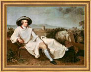 "Painting ""Goethe in Campagna"" (1786/87) in museum framing"